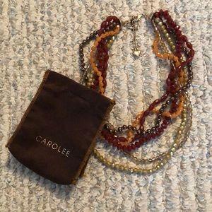 Carolee multi-strand beaded necklace